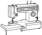 Click here to enlarge image and see more about item smm1412e: PRINTED Kenmore by Sears 1561 sewing machine manual (smm1412e)