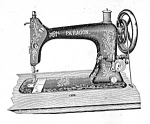 Click here to enlarge image and see more about item smm1442: PRINTED Standard made Paragon sewing machine manual (smm1442)