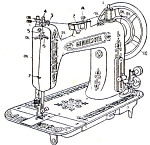 Click here to enlarge image and see more about item smm145a: PRINTED Standard made Minnesota Sears model L.sewing machine manual (smm145a)