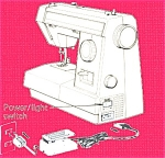 Click here to enlarge image and see more about item smm1483: PRINTED Kenmore by Sears 14501 sewing machine manual (smm1483)