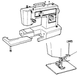 Click here to enlarge image and see more about item smm1492: Dressmaker model 101 sewing machine manual