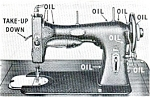 Click here to enlarge image and see more about item smm149ab: White 41 sewing machine instruction manual original (AB)