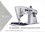 Click here to enlarge image and see more about item smm151a: PRINTED Singer 500 Slant O Matic sewing machine manual (smm151a)