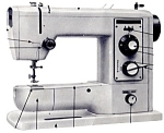 Click here to enlarge image and see more about item smm1582a: PRINTED Lemair Helvetia model SZA-307-F sewing machine manual (smm1582a)