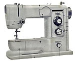 Click here to enlarge image and see more about item smm1582b: PRINTED Lemair Helvetia model SZA-308-F sewing machine manual (smm1582b)