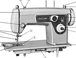 Click here to enlarge image and see more about item smm1598: PRINTED Kenmore by Sears 1206 sewing machine manual (smm1598)