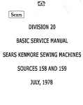 Click here to enlarge image and see more about item smm1643a: Kenmore 158, 159 source sewing machine service manual