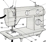 Click here to enlarge image and see more about item smm166a: PRINTED Singer 3015 sewing machine manual (smm166a)