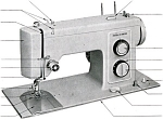 Click here to enlarge image and see more about item smm168: PRINTED Kenmore by Sears 1305 sewing machine manual (smm168)