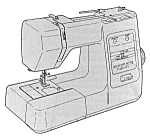 Click here to enlarge image and see more about item smm1916: PRINTED Kenmore by Sears 385.17126 sewing machine manual (smm1916)