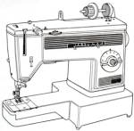 Click here to enlarge image and see more about item smm2010pdf: Dressmaker model 300 Z  sewing machine manual