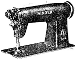 Click here to enlarge image and see more about item smm2023e: PRINTED Singer 400w28 sewing machine manual (smm2023e)