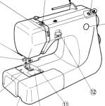 Click here to enlarge image and see more about item smm2072a: Janome 660 sewing machine  manual