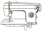 Click here to enlarge image and see more about item smm219: Domestic model 164 sewing machine manual