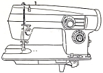 Click here to enlarge image and see more about item smm219a: Domestic model 264 sewing machine manual