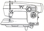 Click here to enlarge image and see more about item smm219b: Domestic model 364 sewing machine manual