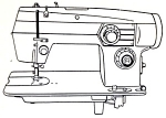 Click here to enlarge image and see more about item smm219c: Domestic model 464 sewing machine manual