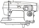 Click here to enlarge image and see more about item smm219d: Domestic model 564 sewing machine manual