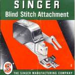 Click here to enlarge image and see more about item smm2233: PRINTED Singer blindstitch attachment for sewing machine manual (smm2233)