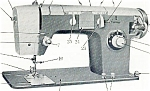 Click here to enlarge image and see more about item smm228a: PRINTED N 250 B De Luxe zig zag sewing machine manual (smm1393)
