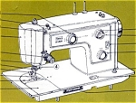 Click here to enlarge image and see more about item smm239: PRINTED Kenmore by Sears 1310 sewing machine manual (smm239)