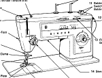 Click here to enlarge image and see more about item smm246: PRINTED Singer 513 Stylist sewing machine manual (smm246)