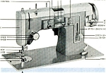 Click here to enlarge image and see more about item smm261a: PRINTED Kenmore by Sears Automatic sewing machine manual (smm261a)