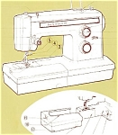 Click here to enlarge image and see more about item smm272: PRINTED Kenmore by Sears 1947 sewing machine manual (smm272)