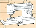 Click here to enlarge image and see more about item smm285: PRINTED Kenmore by Sears 15612 sewing machine manual (smm285)
