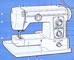 Click here to enlarge image and see more about item smm310a: PRINTED Pacesetter model 604 Brother sewing machine manual (smm310a)