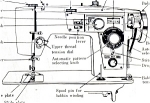 Click here to enlarge image and see more about item smm312: PRINTED Wizard 3KC 8841 sewing machine manual (smm312)