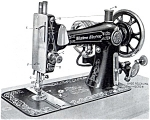 Click here to enlarge image and see more about item smm317: PRINTED Western Electric model number 1 sewing machine manual (smm317)