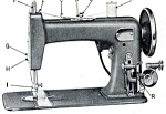 Click here to enlarge image and see more about item smm333: PRINTED Un named sewing machine manual (smm333)