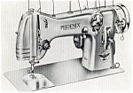 Click here to enlarge image and see more about item smm334b: PRINTED Phoenix model 283 flat bed sewing machine users and service manual (smm334b)