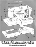 Click here to enlarge image and see more about item smm342b: PRINTED Kenmore by Sears 1560 sewing machine manual (smm342b)