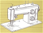 Click here to enlarge image and see more about item smm353: PRINTED Kenmore by Sears 1753 sewing machine manual (smm353)