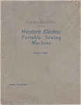 Click here to enlarge image and see more about item smm368: PRINTED Western Electric sewing machine salesmans catalog (smm368)