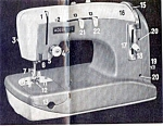 Click here to enlarge image and see more about item smm377: Adlerette 200 sewing machine manual