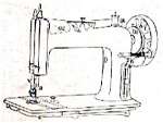 Click here to enlarge image and see more about item smm393b: PRINTED New Ideal New Home treadle sewing machine manual (smm393b)