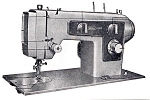 Click here to enlarge image and see more about item smm395c: PRINTED Kenmore by Sears 1303 sewing machine manual (smm395c)