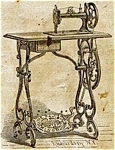 Click here to enlarge image and see more about item smm396: Davis Improved treadle sewing machine manual