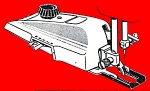 Click here to enlarge image and see more about item smm397a: PRINTED Kenmore Sears sewing machine buttonholer attachments manual (smm397a)