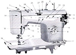 Click here to enlarge image and see more about item smm429: Emdeko sewing machine model 270-1155 manual