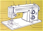 Click here to enlarge image and see more about item smm449: PRINTED Kenmore by Sears 1400 sewing machine manual (smm449)