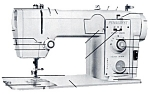 Click here to enlarge image and see more about item smm454: PRINTED Penncrest 3400 sewing machine manual (smm454)