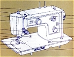 Click here to enlarge image and see more about item smm456: PRINTED Kenmore by Sears 1422 sewing machine manual (smm456)
