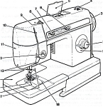 Click here to enlarge image and see more about item smm458: PRINTED Singer 2502 sewing machine instruction manual (smm458)