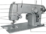 Click here to enlarge image and see more about item smm498b: Kenmore model 50 original sewing machine manual (B)