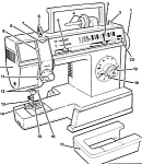 Click here to enlarge image and see more about item smm499a: PRINTED Singer 4528 Merritt sewing machine manual (smm499a)