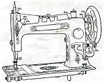 Click here to enlarge image and see more about item smm507: PRINTED Un named sewing machine manual (smm507)